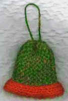 Knitting On The Net Knitted Christmas Bell Ornament